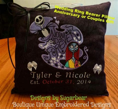 nightmare before wedding gifts nightmare before pillow wedding ring bearer
