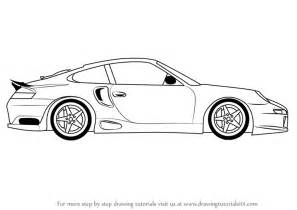 How To Draw A Porsche Learn How To Draw A Porsche Car Side View Sports Cars