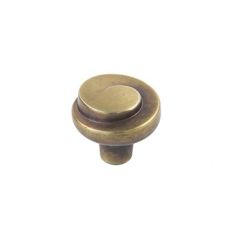 sylvan cabana cabinet knob 30mm rustic brushed brass