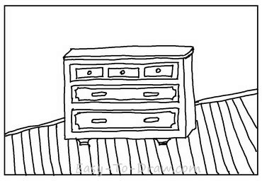 how to draw a cabinet how to draw cabinet with drawers on wood floor for