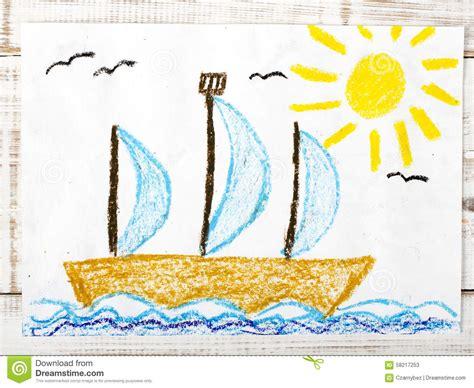 sailing boat in the sea sailing boat in the sea stock photo image 58217253