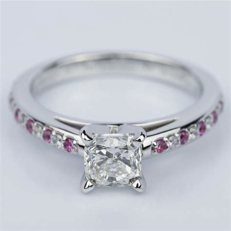 cushion cut cathedral pink sapphire gemstone