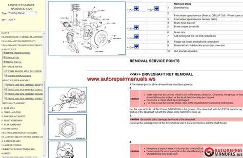 free service manuals online 2004 mitsubishi lancer electronic throttle control mitsubishi workshop manuals 2005 2012 auto repair manual forum heavy equipment forums