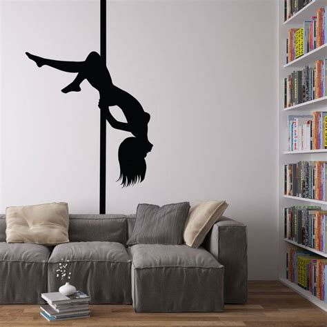 pole dancer vinyl wall art decal  vinyl revolution