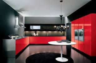 amazing Red And Black Kitchen Ideas #1: Italian-kitchens-red-and-black-kitchen-designs-ideas-2015.jpg