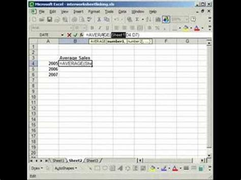 excel tutorial linking worksheets linking cells in separate worksheets in excel youtube