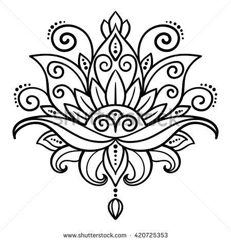 lotus tattoo vector lotus flower stock images royalty free images vectors