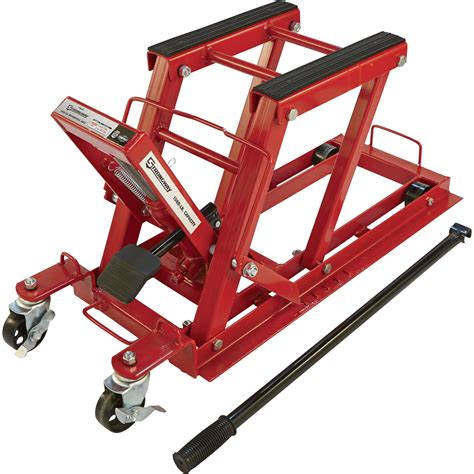 motocross bike lift free shipping strongway 1500 lb hydraulic motorcycle