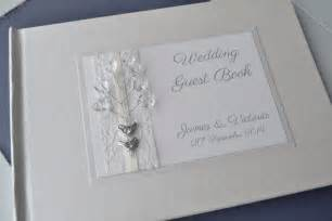 guest book birds orginal design ivory personalised wedding