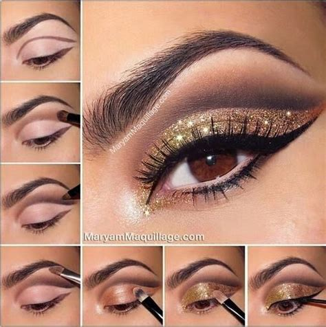 eyeshadow tutorial bronze bronze and gold smokey eye for brown eyes pictures photos