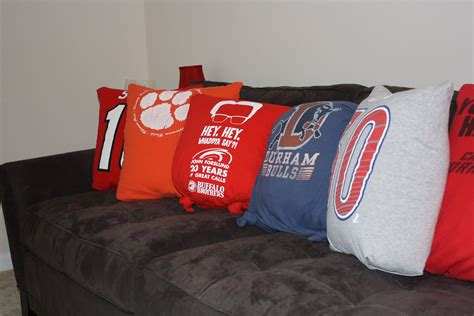 sport t shirt pillow diy countdowns and cupcakes