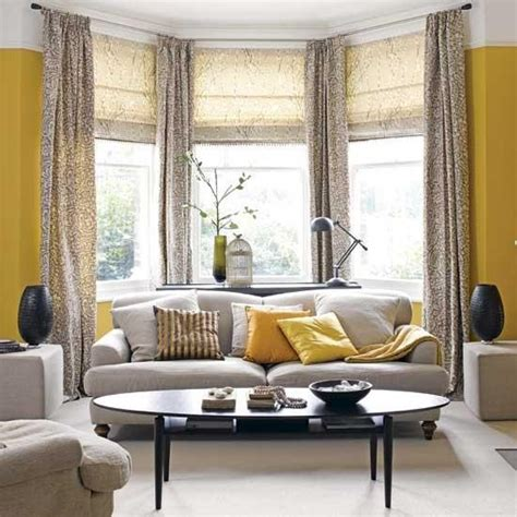bay window curtain ideas bay window treatment ideas