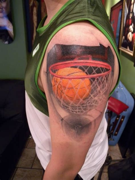 basketball tattoo basketball by mikey ink amazing