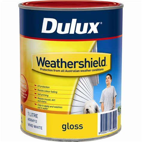 black gloss exterior paint dulux weathershield 1l gloss black exterior paint