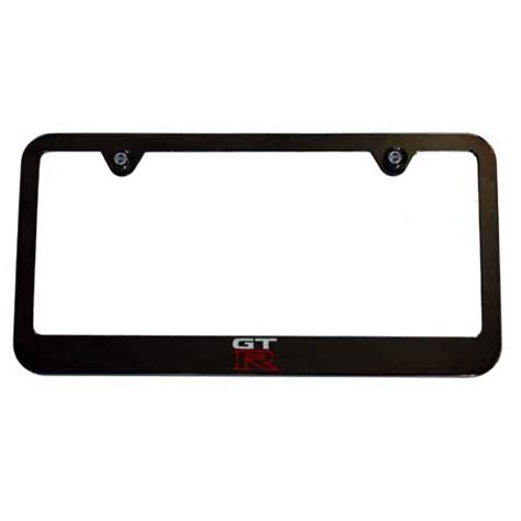 nissan plate frame nissan gt r black chrome like license plate frame