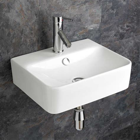 bathroom sink basin 44cm x 36cm wall mounted rectangular bathroom sink basin