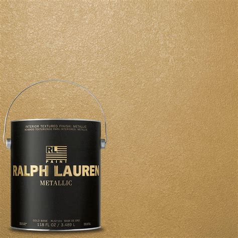 ralph 1 gal golden buttermilk gold metallic specialty finish interior paint me133 the