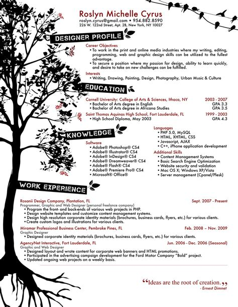 Resume Graphic Design Ideas Resume Designs Best Creative Resume Design Infographics Webgranth