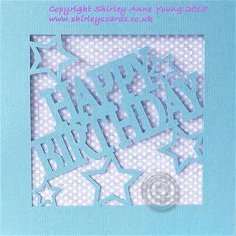 Silhouette Birthday Card Template by Shirley S Cards Freebie Happy Birthday Card