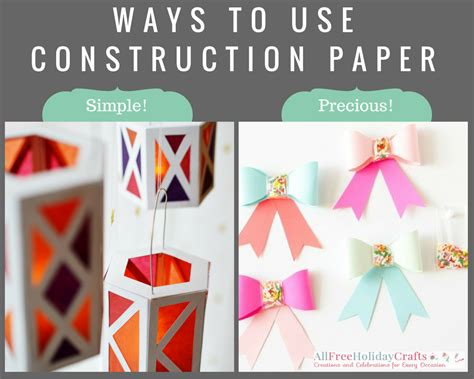 Crafts To Do With Construction Paper - 7 ways to use construction paper craft paper scissors