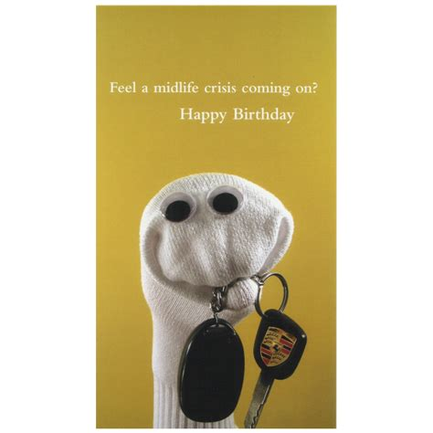 The Birthday Sock by Quiplip Midlife Crisis Birthday Card Greeting Card From