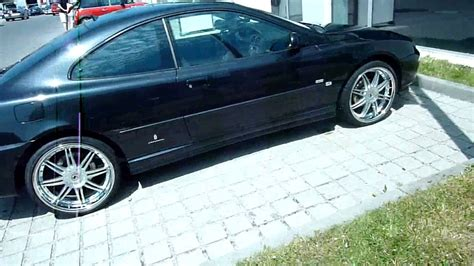 peugeot 406 coupe black tuning black peugeot 406 coupe with 20 inch rims ultima