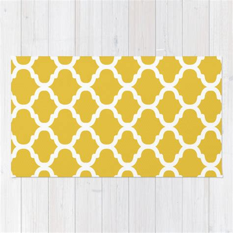 yellow moroccan pattern moroccan pattern area rug mustard yellow and white modern