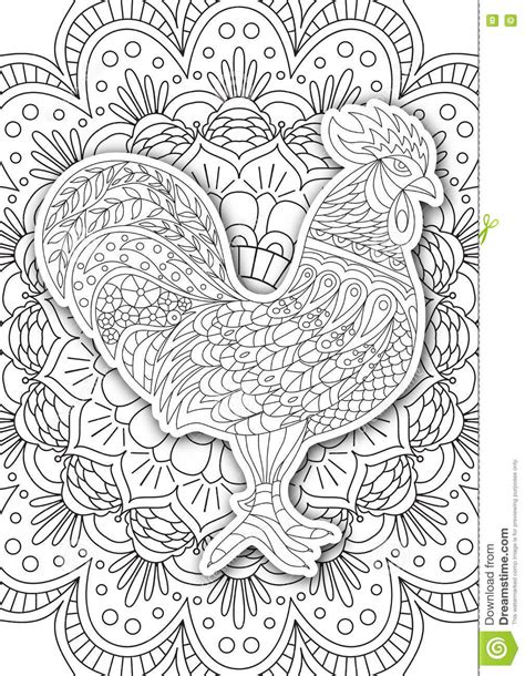 coloring book by nature for adults relaxation don juan s coloring books books printable coloring book page for adults rooster design
