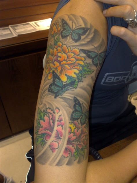 tattoo sleeve background designs 44 stunning flower tattoos you ll these