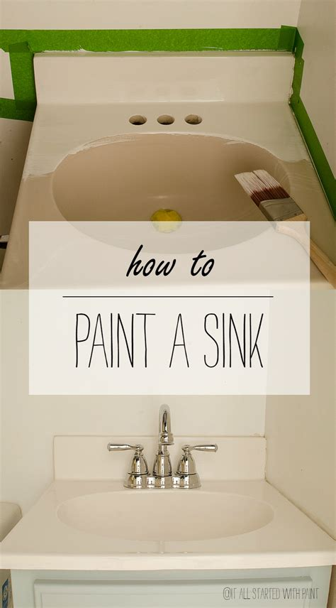 how to change the color of a bathtub how to paint a sink