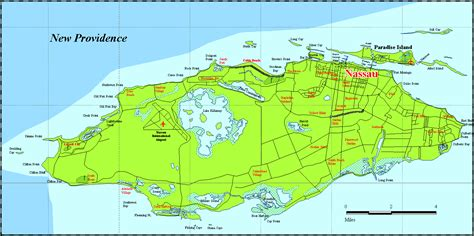 map of new providence new providence bahamas