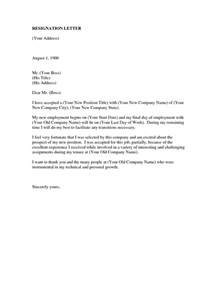 Letter Of Resignation For New by Resignation Letter Format Feeling Fortunate Prospect