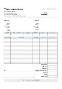 invoice template with vat invoice template with two vat tax rates