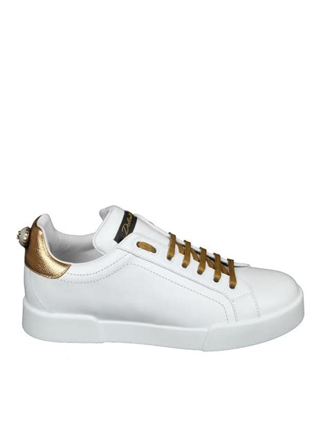 white leather sneakers dolce gabbana dolce gabbana white leather sneakers