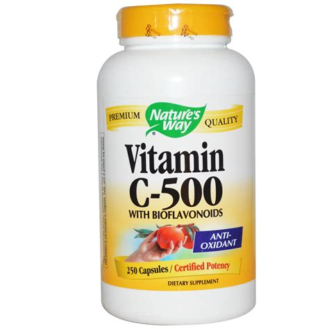Vitamin Nature S Way Nature S Way Vitamin C 500 With Bioflavonoids 250