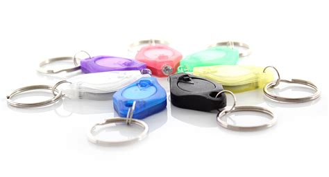 Xsy Keychain Assorted Newvi 3 3 68 multicolored focused led flashlight keychains assorted 7 pack multi color led at