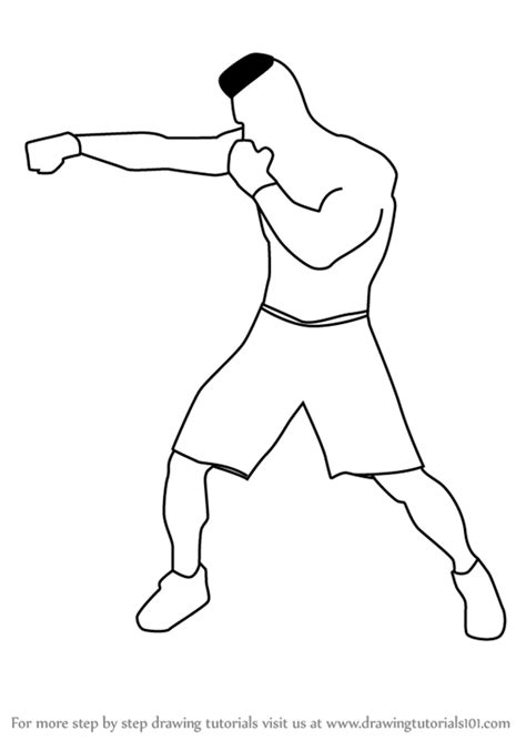 how to a boxer learn how to draw a boxer other occupations step by step drawing tutorials