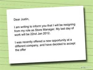 I Want To Write A Resignation Letter by How To Write A Resignation Letter With Sle Resignation Letters