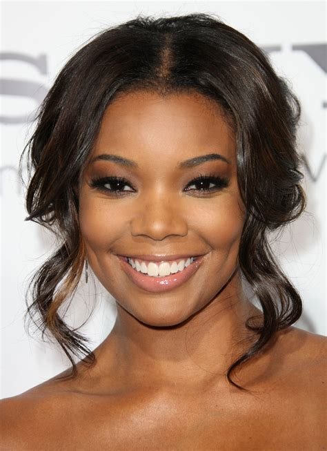 hair and makeup union more pics of gabrielle union half up half down 8 of 8