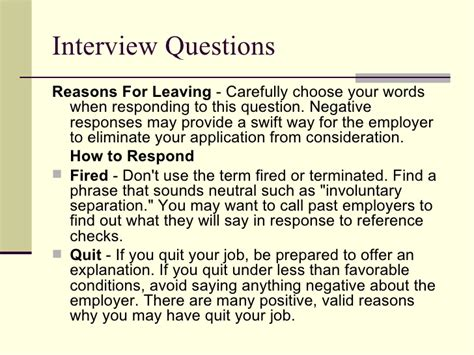 reasons for quitting a on a resume resume ideas