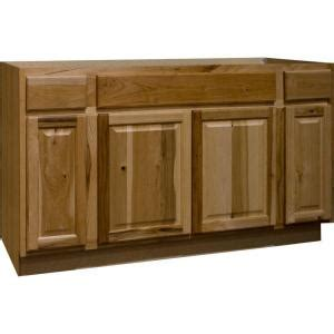 hickory kitchen cabinets home depot hton bay hton assembled 60x34 5x24 in sink base kitchen cabinet in natural hickory ksb60