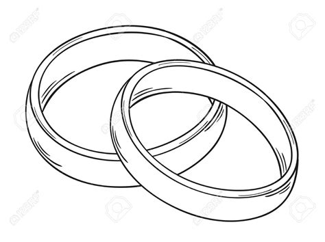 how to draw wedding rings marriage rings symbol clipart