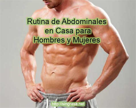 abdominales en casa para hombres rutina de abdominales en casa para hombres y mujeres