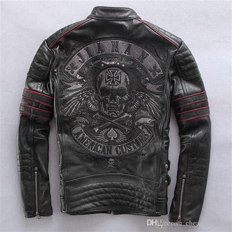Hoodie Motor Harley Davidsonsmlxl frayed harley style jackets slim leather motorcycle clothing genuine leather mens motor