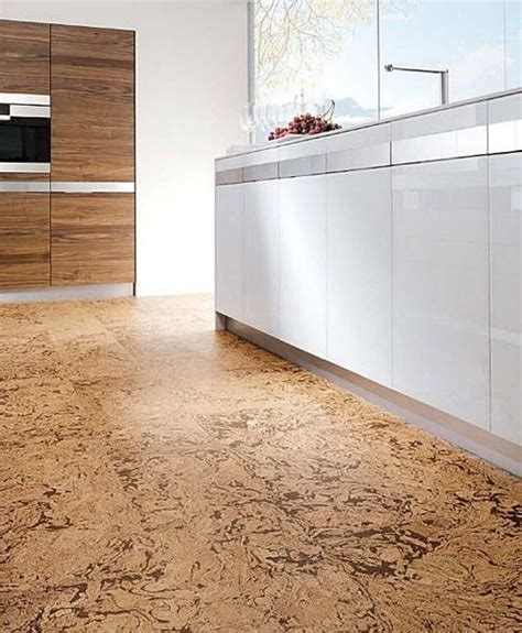 32 Cool Cork Flooring Ideas For Maximum Comfort Digsdigs Cork Kitchen Flooring
