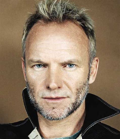 sting has a receding hairline so he tends to wear his hair short hairstyles of sting newhairstylesformen2014 com