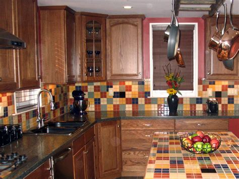 tile kitchen backsplashes metal tile backsplashes hgtv