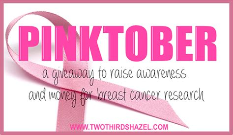 Breast Cancer Awareness Month Giveaways - because shanna said so pinktober giveaway breast cancer awareness month