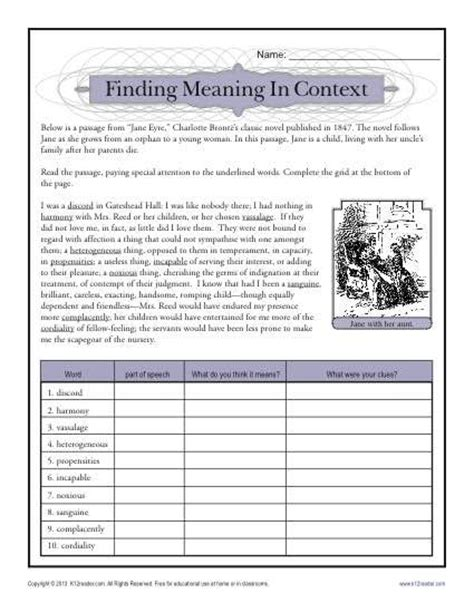 Ideas About Context Clues Printable Worksheets Easy - ideas about context clues printable worksheets easy