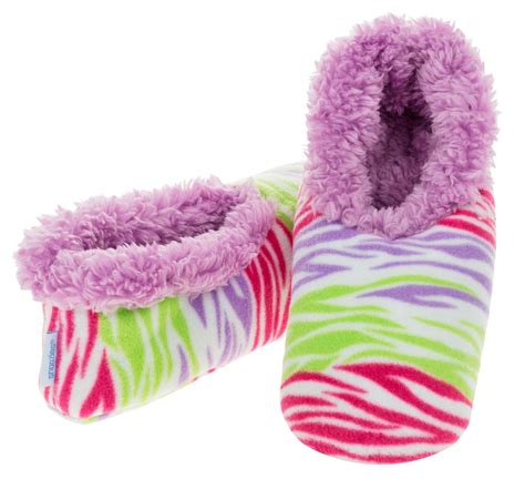 snoozies slippers snoozies slippers bright print fleece uk size 3 4 5